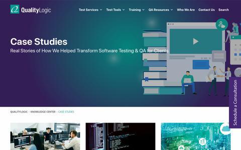 Screenshot of Case Studies Page qualitylogic.com - Case Studies Archive - QualityLogic - captured Dec. 4, 2019