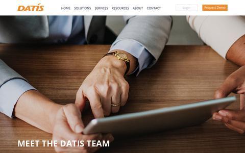 Screenshot of Team Page datis.com - Team Members - Meet Our People | DATIS - captured Nov. 4, 2018