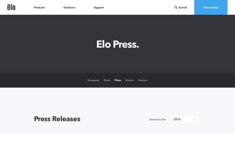 Screenshot of Press Page elotouch.com - Latest Blog Posts - captured Nov. 6, 2016