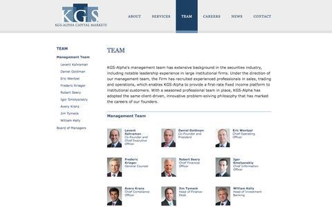 Screenshot of Team Page kgsalpha.com - Management Team - captured Nov. 3, 2014