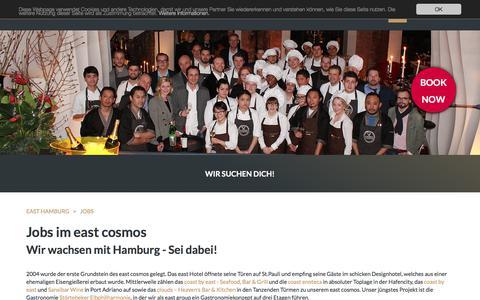 Screenshot of Jobs Page east-hamburg.de - Jobs: east Hamburg Hotel und Restaurant - captured June 22, 2017