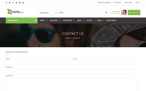 Screenshot of Contact Page godelite.com - Contact Us - Godelite.com - captured Jan. 30, 2017