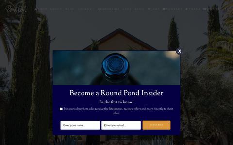 Screenshot of Signup Page roundpond.com - Membership - Round Pond Estate - captured Nov. 24, 2019