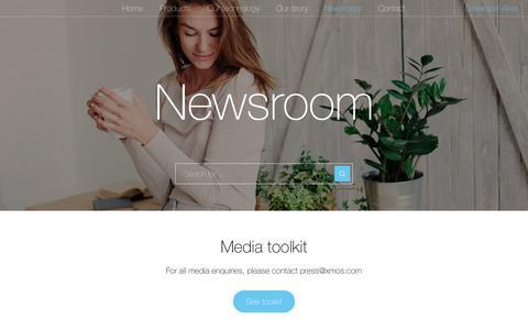 Screenshot of Press Page xmos.com - Newsroom – XMOS - captured Oct. 17, 2018