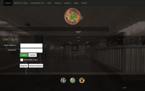 Screenshot of Login Page hoptronbrewtique.com - User Log In - captured Dec. 12, 2015