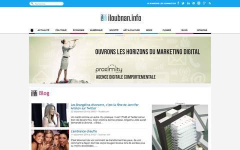 Screenshot of Blog iloubnan.info - Blog - iloubnan.info - captured Nov. 26, 2016