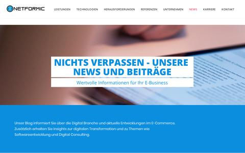 Screenshot of Press Page netformic.de - News zu digitalen Trends für den Mittelstand in B2B & B2C | NETFORMIC - captured Sept. 28, 2018