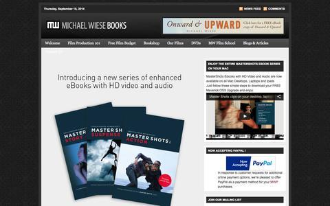 Screenshot of Home Page mwp.com - Michael Wiese Books - Filmmaking Books | Screenwriting Books - captured Sept. 19, 2014
