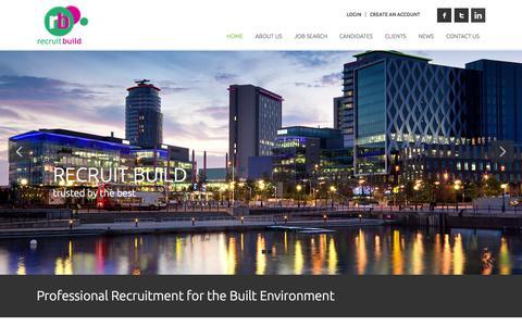 Screenshot of Home Page recruitbuild.co.uk - Home - RecruitBuild - RecruitBuild - captured Aug. 15, 2015