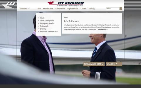 Screenshot of Jobs Page jetaviation.com - Jobs & Careers | jetaviation.com - captured Sept. 19, 2014