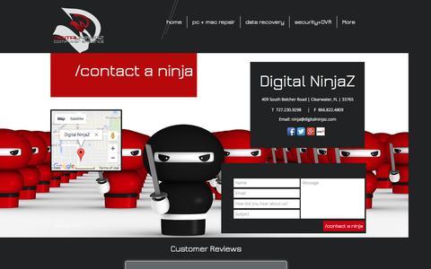 Screenshot of Contact Page digitalninjaz.com - Contact Digital NinjaZ - captured Nov. 24, 2016