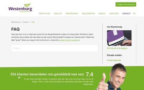 Screenshot of FAQ Page westenburg.nl - FAQ | Westenburg - captured Nov. 8, 2017