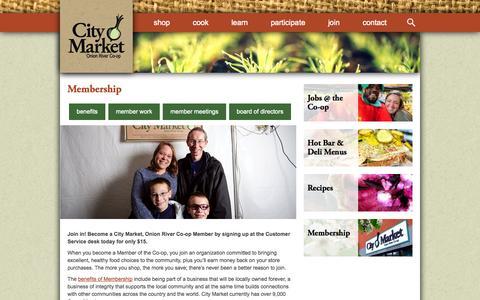 Screenshot of Signup Page citymarket.coop - Membership | City Market / Onion River Co-op - captured Sept. 29, 2014