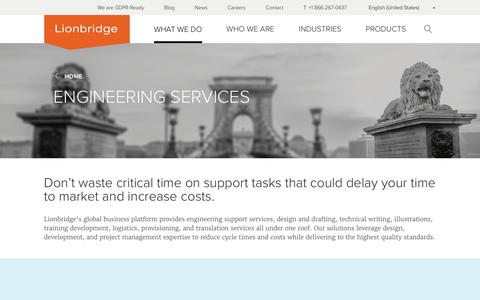 Lionbridge – Engineering Services