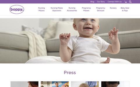 Screenshot of Press Page boppy.com - Boppy |   Resources - captured June 24, 2017