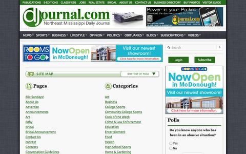 Screenshot of Site Map Page djournal.com - Sitemap - Daily Journal - captured Sept. 22, 2014