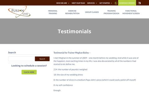 Screenshot of Testimonials Page goodyearhealth.com - Testimonials - Goodyear Chiropractic Health Center - captured Oct. 24, 2018