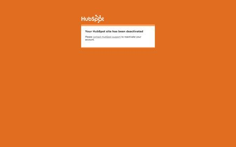 Screenshot of Blog Press Page Testimonials Page hubspot.com - Your HubSpot site has been deactivated - captured Oct. 22, 2014