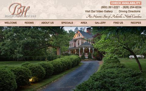 Screenshot of Contact Page Maps & Directions Page beauforthouse.com - Bed and Breakfast Lodging near Downtown Asheville NC - captured Oct. 10, 2017