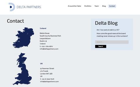 Screenshot of Contact Page deltapartners.com - Contact | Delta Partners - captured Oct. 1, 2014