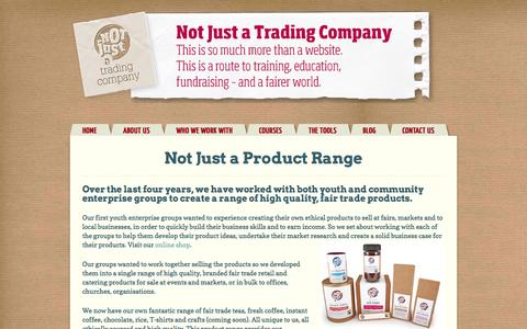 Screenshot of Products Page njatc.co.uk - Not Just a Product Range - captured Oct. 7, 2014