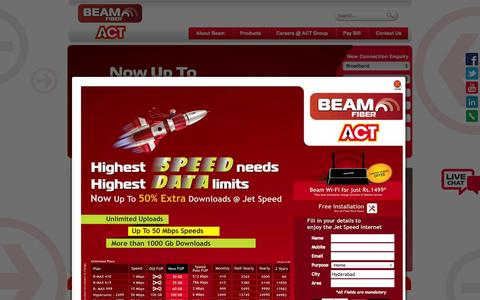 Screenshot of Contact Page beamtele.com - Beam Fiber | 50 Mbps | Internet Connection | Broadband High Speed - captured Sept. 19, 2014