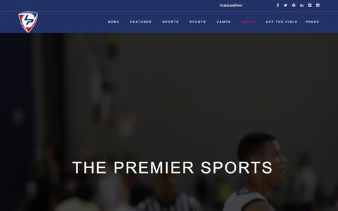 Screenshot of About Page lakepointsports.com - About • LakePoint Sports - captured July 10, 2016