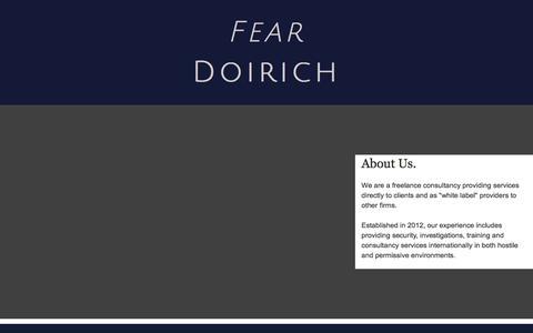 Screenshot of About Page feardoirich.co.uk - About - fear doirich - captured Aug. 12, 2018