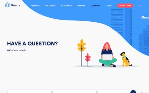 Screenshot of Contact Page guesty.com - Contact Us - Guesty - captured Sept. 10, 2019