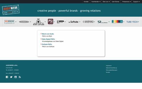 Screenshot of FAQ Page audiowerk.eu - Audiowerk: FAQ - captured March 26, 2017