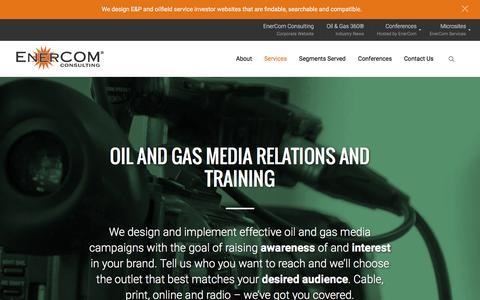 Screenshot of Press Page enercominc.com - EnerCom   Oil and Gas Media, Campaigns, Network TV, Print - captured Dec. 10, 2015