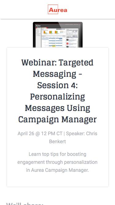 Targeted Messaging: Personalizing Messages | Aurea