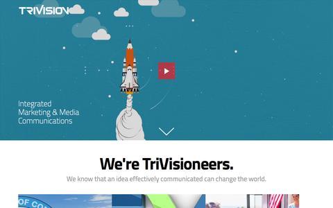 Screenshot of Home Page trivisioncreative.com - Branding & Marketing Agency   VA DC MD - captured Dec. 28, 2016
