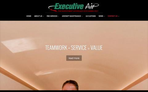 Screenshot of Contact Page executiveair.com - CONTACT US | Executive Air - captured Oct. 3, 2014