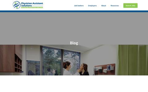 Screenshot of Blog physicianassistantsolutions.com - Physician Assistant Resources & Blog   Physician Assistant Solutions - captured Dec. 8, 2018