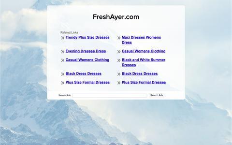 Screenshot of Home Page freshayer.com - FreshAyer.com - captured Nov. 25, 2016