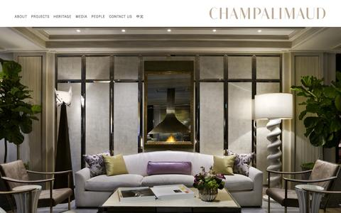 Screenshot of Home Page champalimauddesign.com - Home | Champalimaud Design - captured Oct. 2, 2014