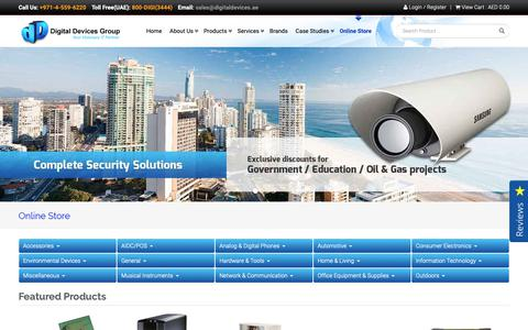 Screenshot of Products Page digitaldevices.ae - Cisco, HP Server Options, IBM Server Options, Data Media, Sony, Microsoft - Digital Group - captured Nov. 30, 2018