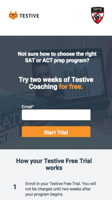 Try Testive SAT & ACT Coaching for free