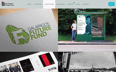 Screenshot of Case Studies Page tgdh.co.uk - Case studies | The Graphic Design House - captured Dec. 16, 2016