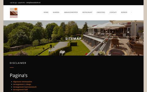 Screenshot of Site Map Page heuvelzicht.nl - Sitemap - Landhotel Heuvelzicht - captured July 14, 2017
