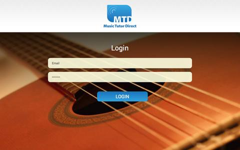 Screenshot of Login Page musictutordirect.com - MTD - captured Oct. 9, 2014