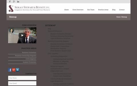 Screenshot of Site Map Page seikalystewart.com - Sitemap | Seikaly, Stewart & Bennett | Michigan Law Firm - captured Dec. 20, 2018