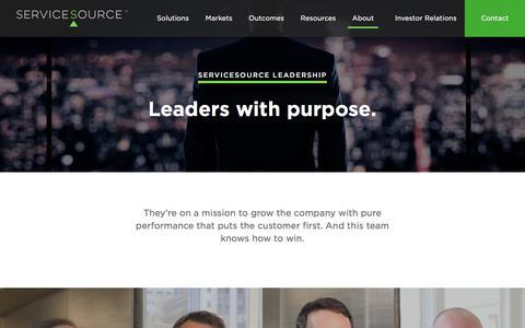 Screenshot of Team Page servicesource.com - Leadership - ServiceSource - captured April 25, 2018