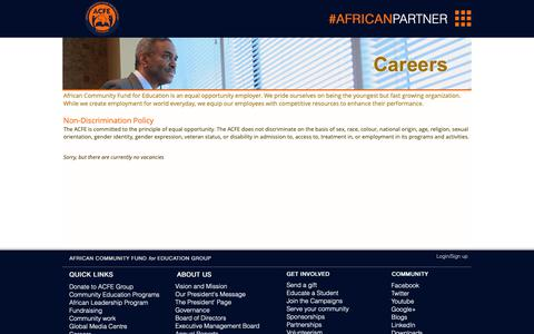 Screenshot of Jobs Page acfegroup.org - Careers   ACFE Group - captured Oct. 3, 2018