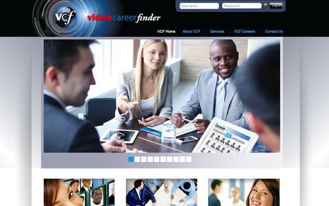 Screenshot of Home Page videocareerfinder.com - Videocareerfinder - captured Aug. 13, 2015
