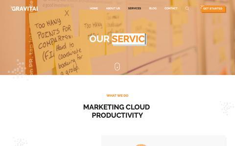 Screenshot of Services Page gravitai.com - Services - Gravitai Ltd - captured Dec. 20, 2018