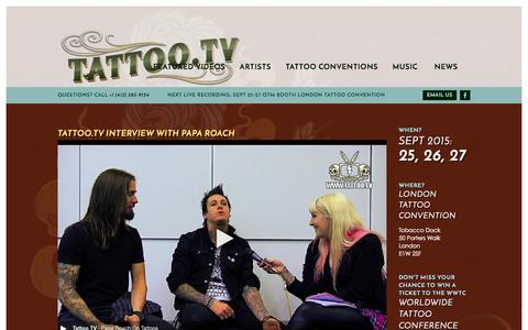 Screenshot of Home Page tattoo.tv - Tattoo.TV : - captured Oct. 9, 2015