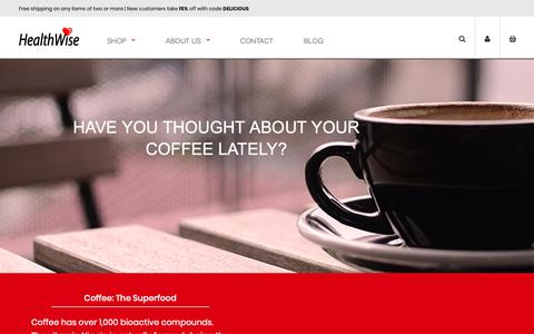 Screenshot of About Page healthwisecoffee.com - About HealthWise Low Acid Coffee | HealthWise Coffee - captured Sept. 27, 2018
