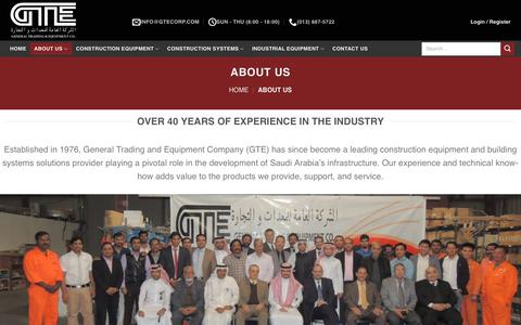 Screenshot of About Page gtecorp.com - About Us – General Trading & Equipment Co. - captured July 25, 2017